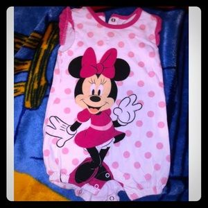 Minnie Mouse Baby Girl Romper